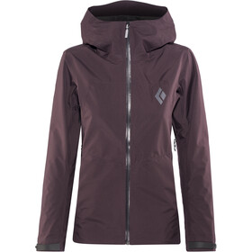 Black Diamond Liquid Point Shell Jas Dames, bordeaux